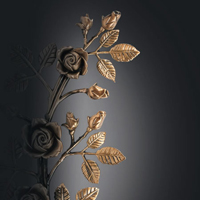 decorazioni floreali in bronzo