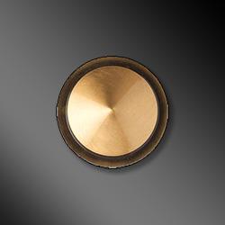 Borchia in bronzo per lapide