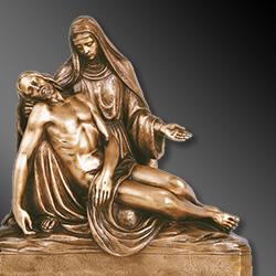 Statue sacre in bronzo per cappelle cimiteriali