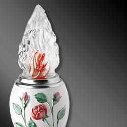 Lampade votive in porcellana per lapidi