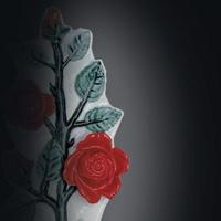 Porcelain rose shoots decorations for gravestones