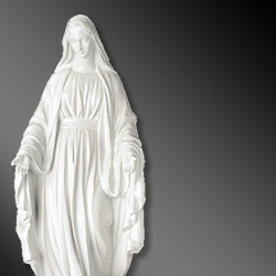 Porcelain sacred statues for cemetery chapels